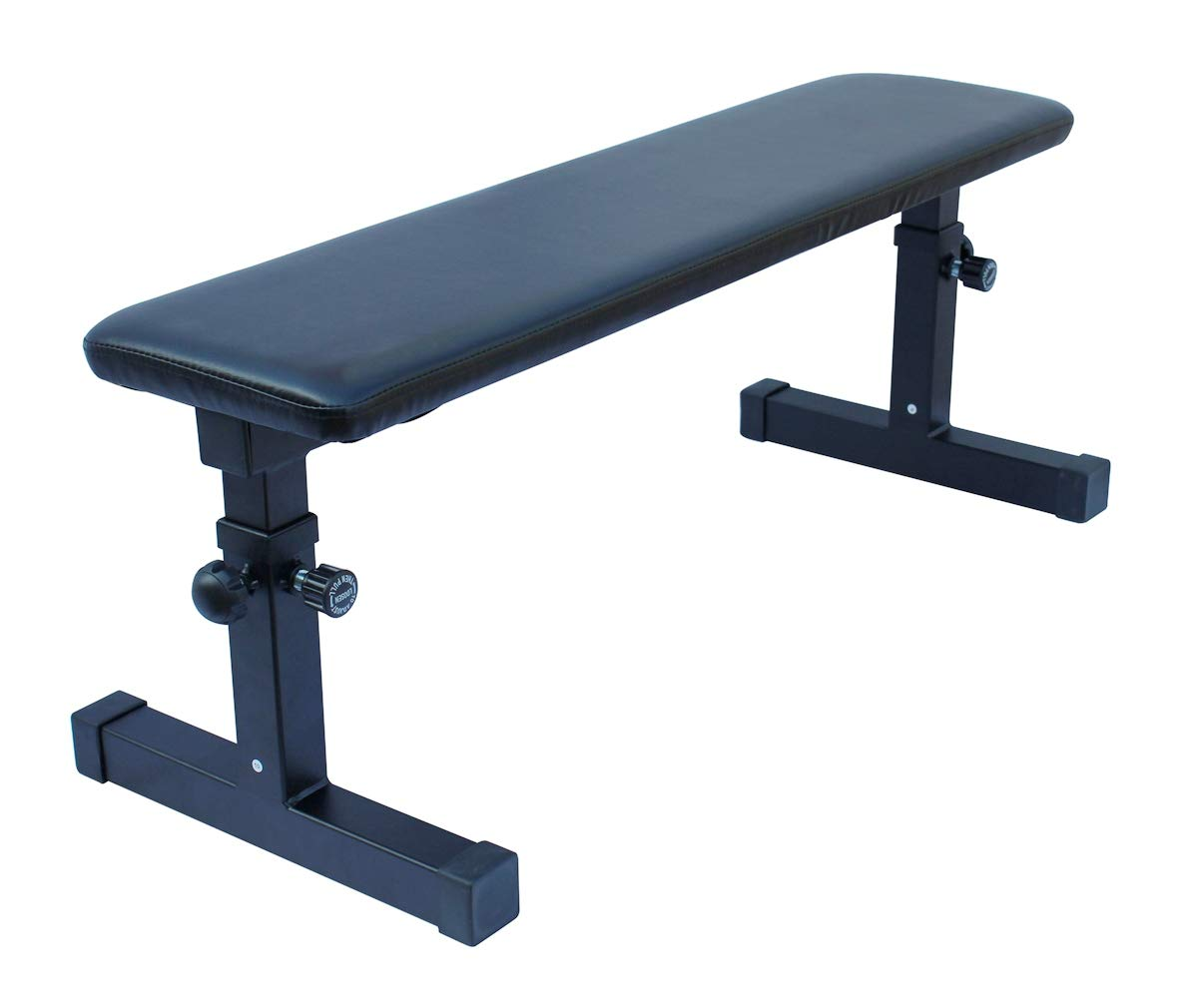 KLB Sport Height Adjustable Utility Flat Weight Bench (Black) by KLB Sport