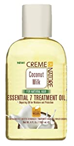 Creme Of Nature Coconut Milk Essential 7 Treatment Oil 4 Ounce (118ml) (2 Pack)