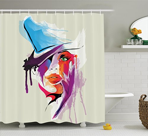 Ambesonne Collection Abstract Polyester Bathroom product image