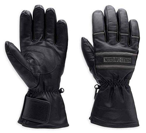 Harley Davidson Motorcycle Gloves - Harley-Davidson Men's Illumination Gauntlet Leather Gloves 98213-13VM