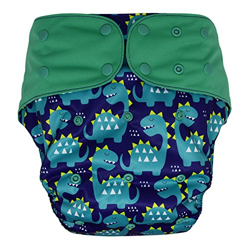Teen Adult Cloth Diaper Cover – Reusable & Washable for Special Needs Incontinence (Dinosaur, Regular) from Ecoable