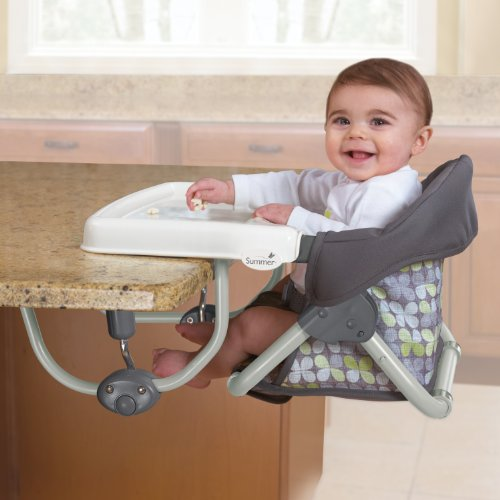 Summer Infant Safety Toddler Feeding Booster Seat Portable Baby Highchair w tray