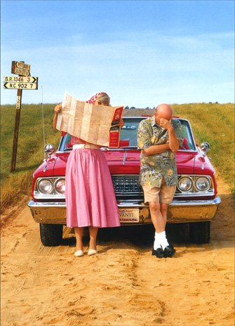 Lost Couple Funny Anniversary Card