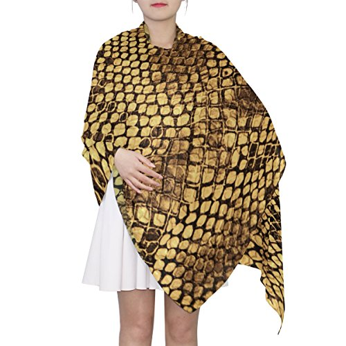 (Women's Scarf Silk Scarf Blanket Lightweight Scarves Fashion Neck Scarf Poncho with Crocodile Skin Texture Shawl Wrap 70