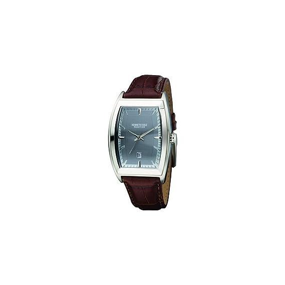 Kenneth Cole Kc1417 - Reloj de caballero de cuarzo, correa de piel color marrón: Kenneth Cole: Amazon.es: Relojes