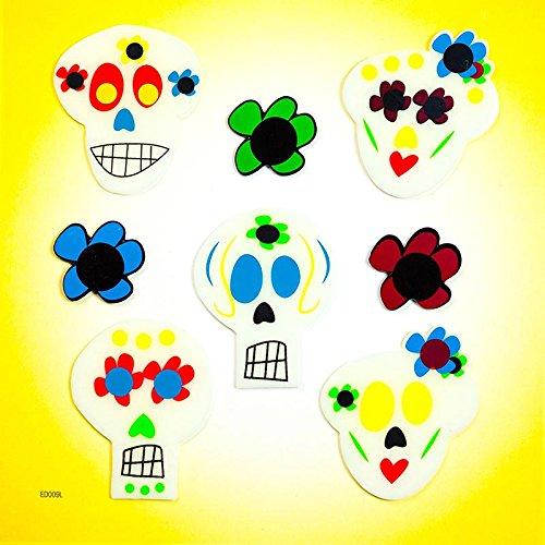 Design Ideas GelGems Halloween Themed Gel Window Clings (Painted Skulls, Large Bag) -