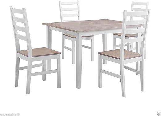 CRAVOG conjuntos de cocina mesa de comedor con sillas y banco ...