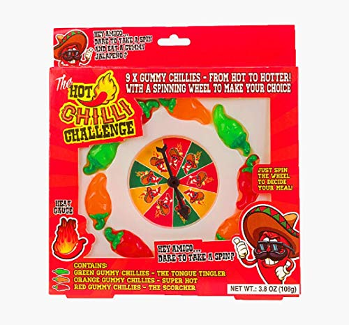 The Hot Chilli Challenge (Novelty Hot Chili Gummy Dare Game) - Great White Elephant Gift! ()