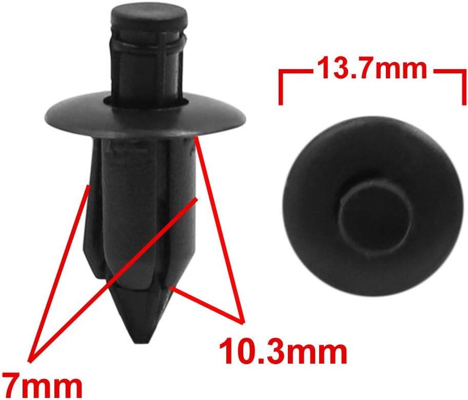 sourcing map 80Stk.Automotive Sto/ßstange Typ Kunststoff Nieten Befestigungen Clips 7mm