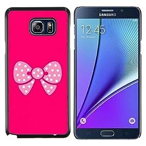 Eason Shop / Premium SLIM PC / Aliminium Casa Carcasa Funda Case Bandera Cover - Dot Historieta rosada Minimalista Blanca - For Samsung Galaxy Note 5