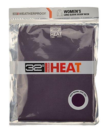 32 Degrees Weatherproof Women/'s Long Sleeve Scoop Neck Base Layer   XL
