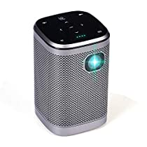 Projector 4500 Lumens DLP 1080P Supported Video Projector Sound Speaker 200 Home Theater Outdoors Gaming Mini Projectors BT WiFi Type-C HDMI USB SD Screen Share (Rectangle, MT)