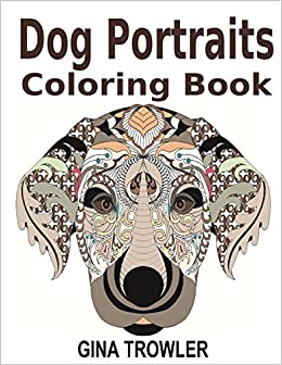 Amazon Dog Coloring Book Portraits Adult Featuring Face Designs Of Top Breeds For Stress Relief