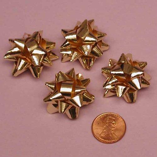Gold Metallic Confetti Bows, 1