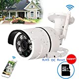 WiFi Camera Outdoor, CCTV Wireless Security IP Camera, 720P HD Night Vision Bullet Cameras, Waterproof Surveillance CCTV, IR LED Motion Detection IP Cameras for Indoor Outdoor,Built-in 16GB SD Card For Sale
