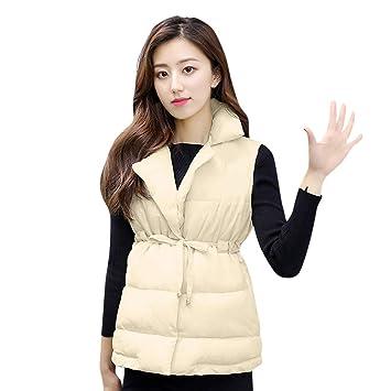 Mujer y Niña abrigo otoño fashion fiesta,Sonnena ❤ Abrigo sin mangas de abrigo grueso de mujer Abrigos chaquetas de algodón acolchado corto: Amazon.es: ...