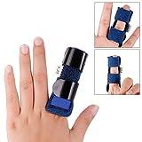 DR.TU Trigger Finger Splint,Adjustable Fixing Belt with Built-in Aluminium Support for Finger Tendon Release & Pain Relief