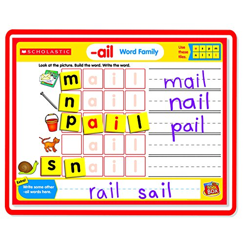 Little Red Tool Box Magnetic Mats Word Families, (Word Family Words Mats)