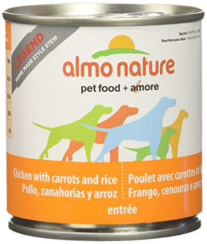 Carrot Nature (Almo Nature 2152 Legend Dog Chicken with Carrots Home Made Style Pet Food, 12 x 280 g/9.87 oz)
