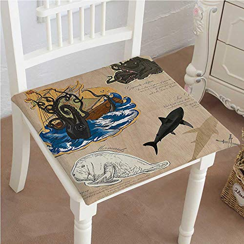 (Mikihome Cushion New Monsters Creatures Collage Sea Dog Mythical Indoor Garden Patio Home Kitchen Office Chair Pads Seat Pads 24