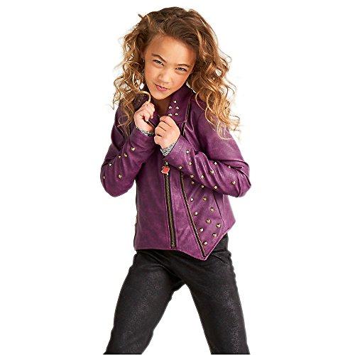 Disney Descendants 2 Faux Leather Moto Jacket for Girls Purple