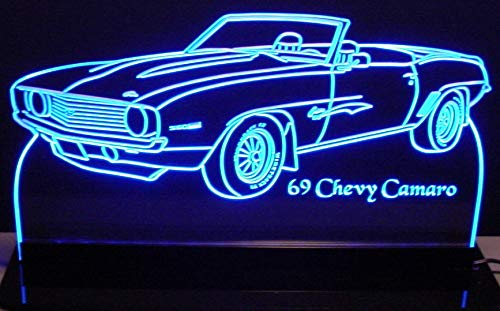 ValleyDesignsND 1969 Camaro Convertible Acrylic Lighted Edge Lit 12