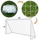 BenefitUSA Nets for Portable Football Soccer door goal 12' x 6' Soccer Net Nelon Sport Training