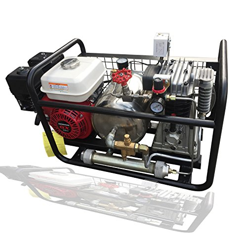 DAVV SCU80P Gas Powered Oil-Free Air Compressor by Honda Engine, Hookah Dive System, Third Lung Serface Air with 50 Feet Hose and Regulator