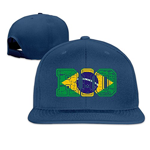 2016 Brazil Rio Games City Adjustable Cap Flat Brim Baseball -
