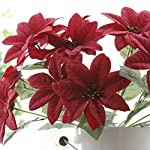 Htmeing-5-Heads-Red-Poinsettia-Decorative-Artificial-Christmas-Flowers-Fake-Plants-Indoor-Home-Decor-for-Christmas-Tree-2-pcs