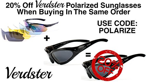 a69eaef09b Verdster TourDePro Polarized Cycling Sport Sunglasses For Men and Women 5  Lenses