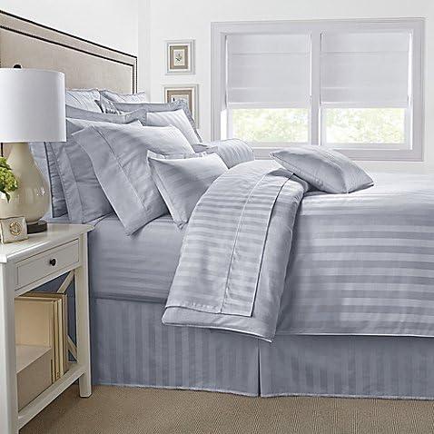Amazon Com Bed Bath Beyond 500 Thread Count Damask Stripe Sheet