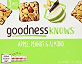 goodnessKNOWS Apple, Peanut and Almond Multipack Snack, 102 g