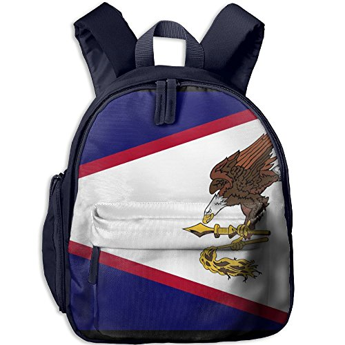 (Fengyaojianzhu American Samoa's Flag Cool School Book Bag Travel Student Backpack For Children Kids Girls Boys)