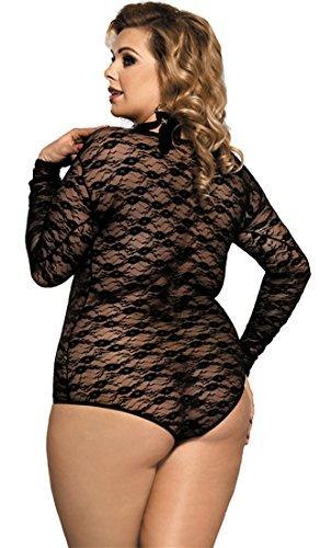 taglia MarysGift donna da Body da 36 trasparente I80382 50 a sexy XwOU1X