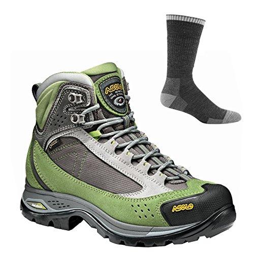 Asolo Women's Nilas Gv Hiking Boots English Ivy/Silver w/Socks - 7