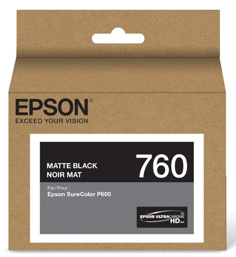 Epson T760820 UltraChrome HD Matte Black Standard Capacity Cartridge ()