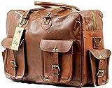Genuine Real Leather Messenger Bag for Laptop Briefcase Satchel Bag