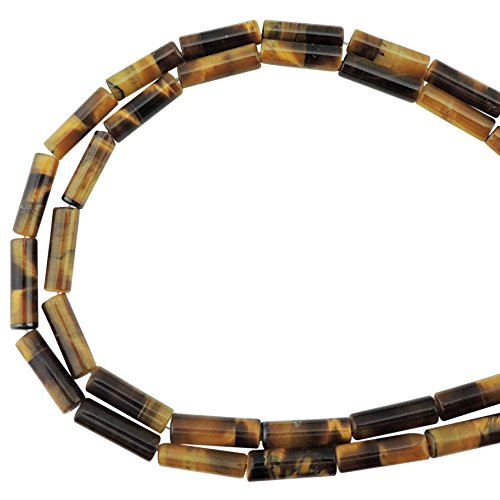 COIRIS 1 Strand 12x4MM Natural Cylinder Tube Shape Stone Loose Beads Imperial Jasper for Jewelry Making DIY Design (ZS-1167) (Tube Beads Jewelry)