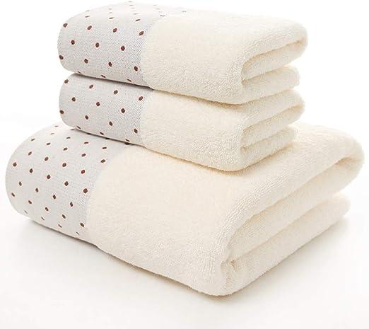 LIFEILONG Toalla de baño de algodón Bordada sin Pelusa y sin ...