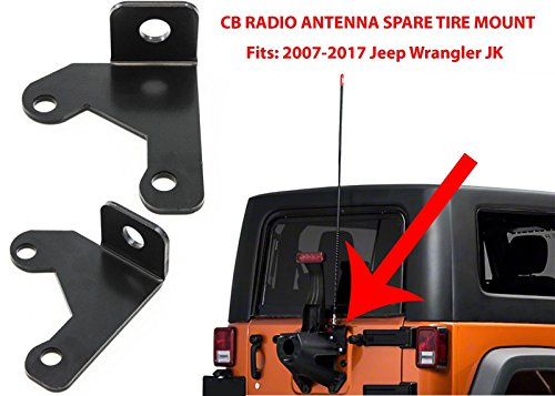 DIYTUNINGS Tailgate Car CB Antenna Bracket Mount For 2007-2017 Jeep Wrangler Jk 2/4 Door Car Antenna Frame Jeep Exterior Accessories by DIYTUNINGS (Image #2)