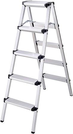 RenGuan Escalera Plegable de múltiples Funciones para el hogar Escalera Doble de Aluminio Escalera pequeña de Tres escalones Escalera para el hogar de Espesamiento: Amazon.es: Hogar