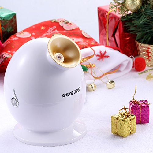 Elements Ivory Gold - KINGDOMCARES Valentines Day Gifts NanoSteamer Nano Ionic Facial Steamer Unclogs Pores Blackheads Acne Sauna SPA Personal Face Steamer Magnifying Lamp NanoCare Hot Mist Moisturizing Face Steam(Golden)