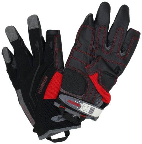 Harken Sport Men's Full Finger Reflex Gloves, Black, Medium