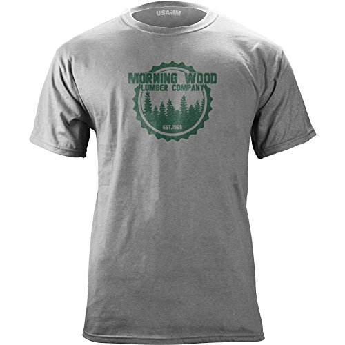 Vintage Morning Wood Lumber Company T-Shirt (X-Large, Heather Grey)