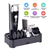 Beard trimmer kit with stand cordless Rechargeable waterproof 5...