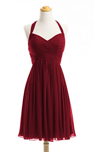 WeiYin Women's Halter Short Party Dress Bridesmaid Dresses