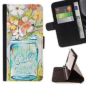 Momo Phone Case / Flip Funda de Cuero Case Cover - Florero del arte floral - MOTOROLA MOTO X PLAY XT1562