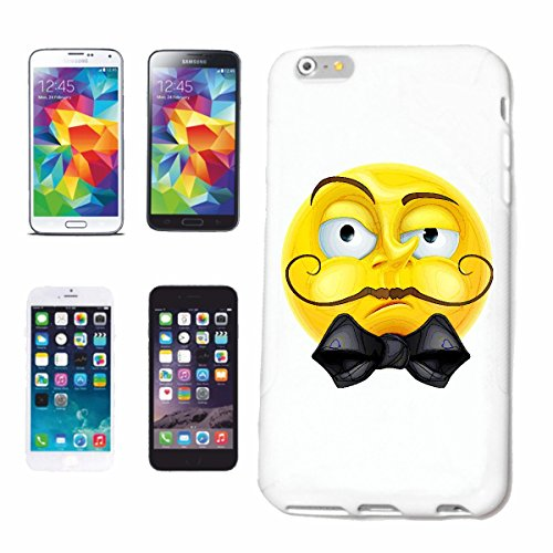 "cas de téléphone Samsung Galaxy S5 Mini ""SCHOLAR SMILEY AVEC SCHNAUZER ET FLY ""smile EMOTICON APP de SMILEYS SMILIES ANDROID IPHONE EMOTICONS IOS"" Hard Case Cover Téléphone Covers Smart Cover pour Sam"