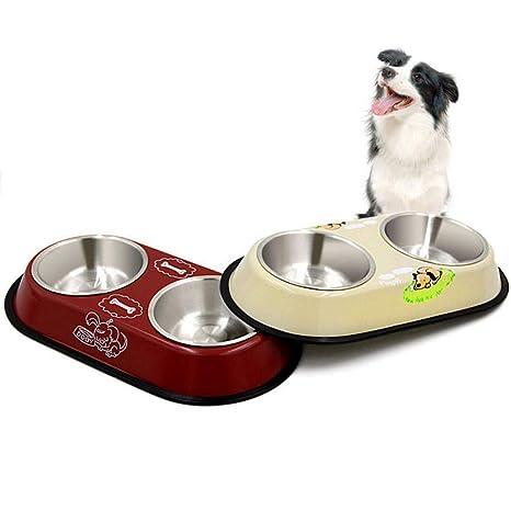 Aigou Cuenco De Perro Pet Dog Bowl Comida Agua Plato Acero ...